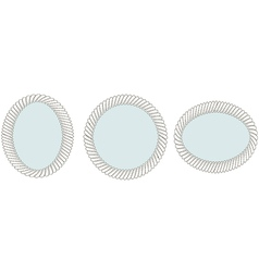 Set of vintage mirrors vector image