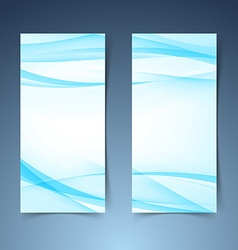 Blue smooth swoosh line border banner layoutjpg vector image vector image