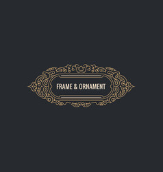 calligraphic elegant ornament frame lines vector image vector image