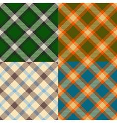 Color plaid patterns set vector image vector image