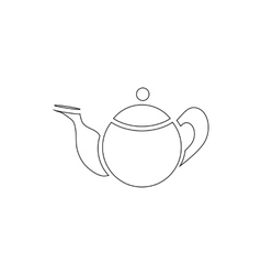 Tea pot icon outline style vector image