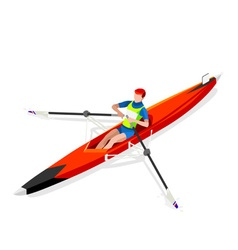 Canoe Rowing Single 2016 Sports 3D vector image vector image