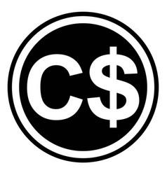 currency symbol canada canadian dollar vector image
