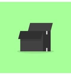 opened black box isolated on olive background vector image