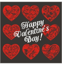 Red Hearts - Valentines day vector image