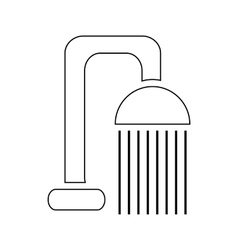 Shower spray icon outline style vector image vector image