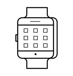 smartwatch line art simple gadget icon vector image vector image