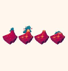 3d tropical island volcanic island desert vector image vector image