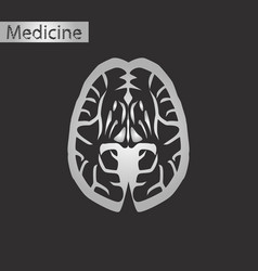 black and white style icon of brain vector image vector image