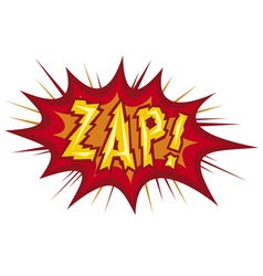 cartoon - zap vector image vector image
