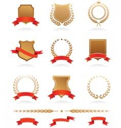 heraldic wreaths vector image vector image