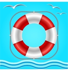 Rescue circle for help in water vector image