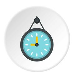 wall clock icon circle vector image vector image