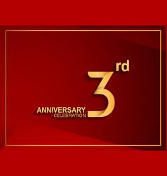 3 anniversary celebration logotype golden color vector