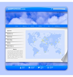 Airlines web design vector