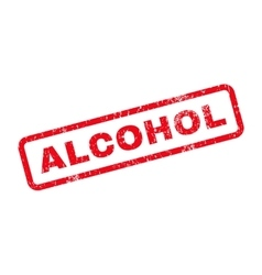 Alcohol Text Rubber Stamp vector image