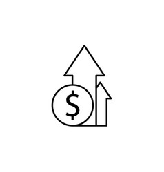 arrow up dollar icon element of finance signs vector image