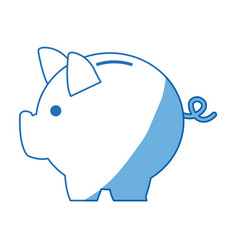 banking piggy concept safety money financial icon vector image