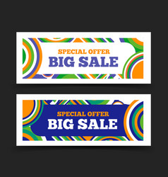 Big sale banner special offer sale design vector