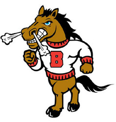 Bronco sports logo mascot vector