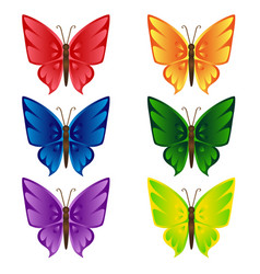 butterfly isolated set vector image