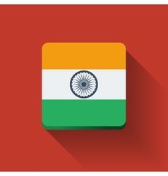 Button with flag of India vector