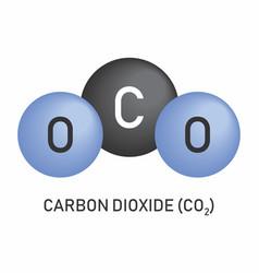 Carbon dioxide molecular formula vector