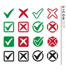 Check mark set icon design set vector