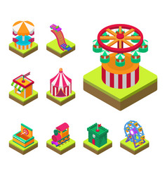 Circus isometric show entertainment tent marquee vector
