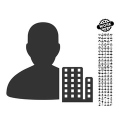 City architect icon with job bonus vector