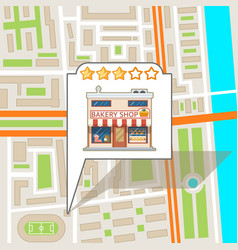 City street road map urban place landmark town vector