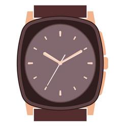 Classic design mechanical wristwatch vector