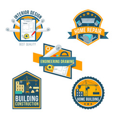 Construction home repair and interior icons vector