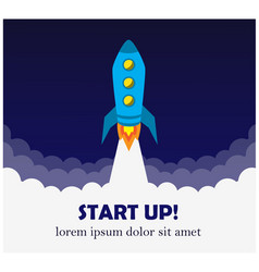 contributions and starting a business and rocket vector image