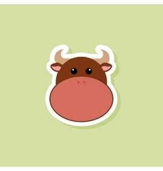 Cute bull face vector