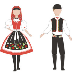 czech national clothing vector image