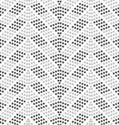 Dotted chevron with dark and light dots vector image