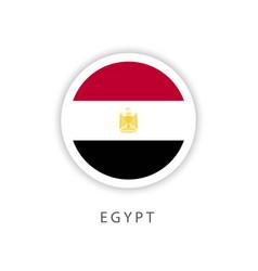 Egypt circle flag template design vector