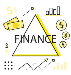 finance infographics - graphs charts and vector image