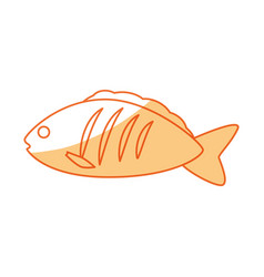 Fish delicious seafood vector