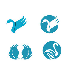 goose logo template isolated sign sym vector image