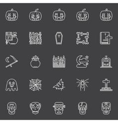 Halloween dark icons set vector