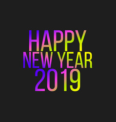 Happy new year sale color sign vector