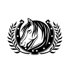 Horse and horseshoe vector