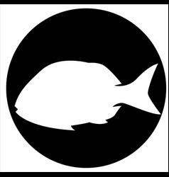 icons and fish vector image