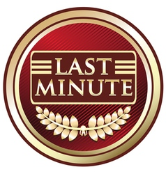 Last Minute vector image