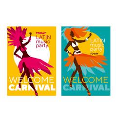 Latin music carnival poster vector