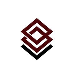 Letter b l modern vector