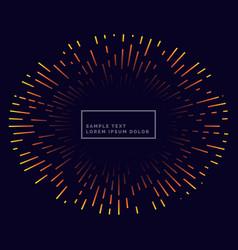 lines firework background design vector image