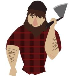 Lumberjack vector